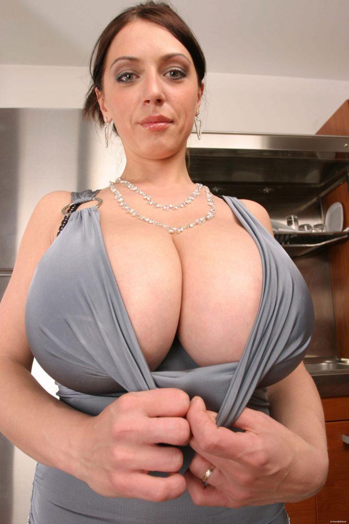 Anya Sakova Tight Silky Dress Busty Poland