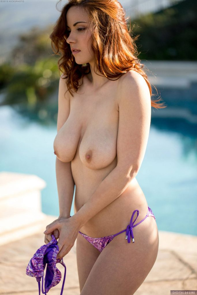 Elizabeth Marxs Purple String Bikini Digital Desire