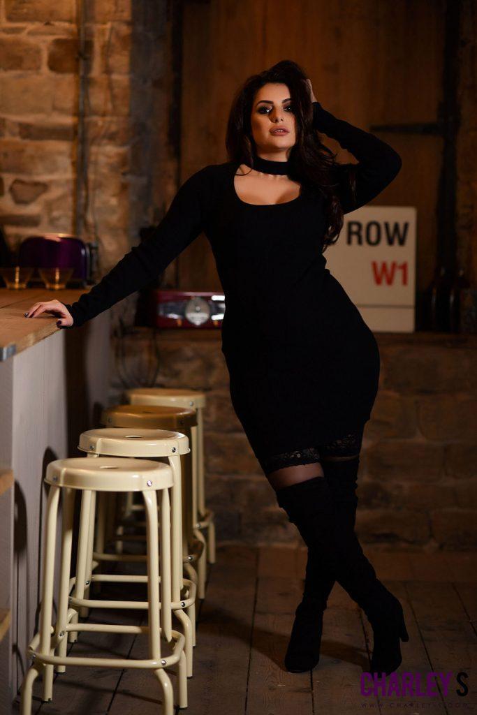 Charley Springer Black Dress and Lingerie