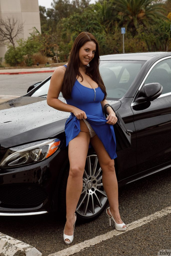 Angela White No More Cars Blue Dress Zishy