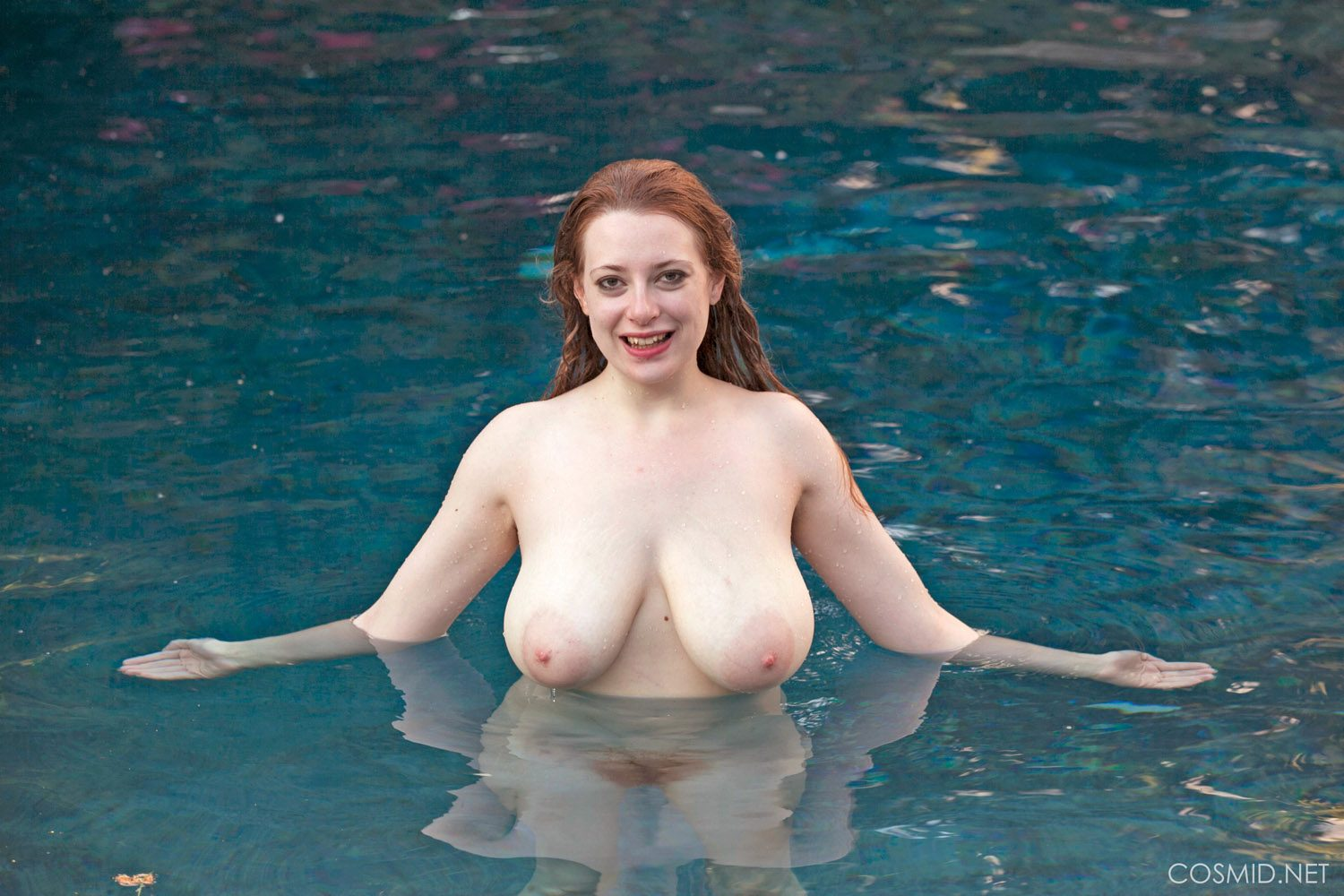 Misha Lowe Naked In The Pool for Cosmid
