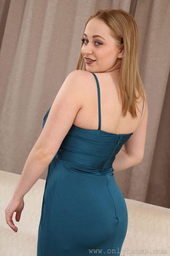 Emma Rachael Sexy Blue Dress for Only Tease