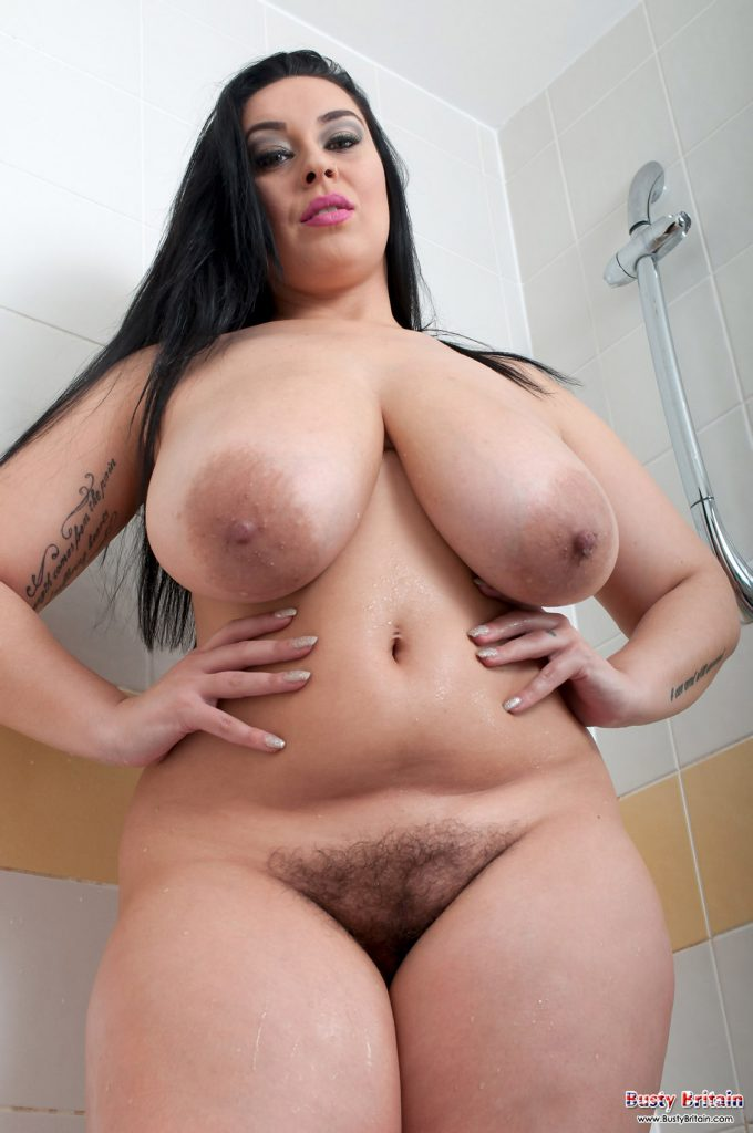 Anastasia Lux Naked Shower for Busty Britain