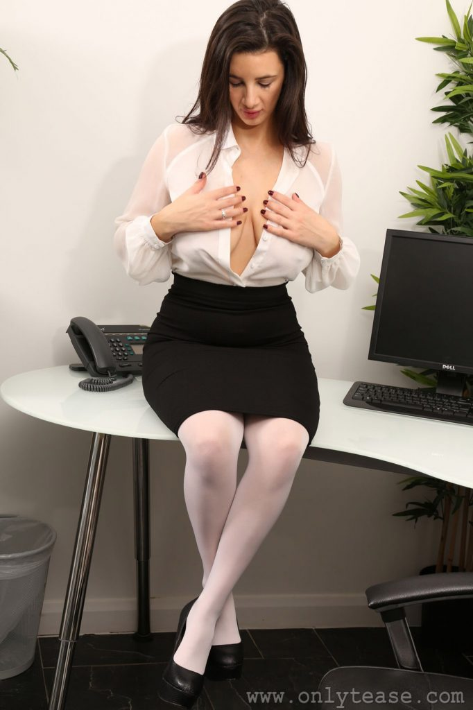 Cara Ruby Undressing At Work for Only Tease