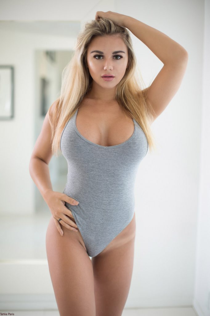Tahlia Paris Grey Bodysuit Curvy Erotic
