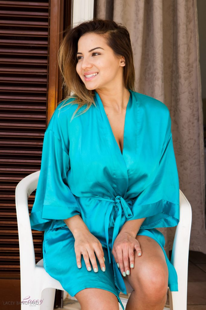 Lacey Banghard Blue Lingerie Nudes