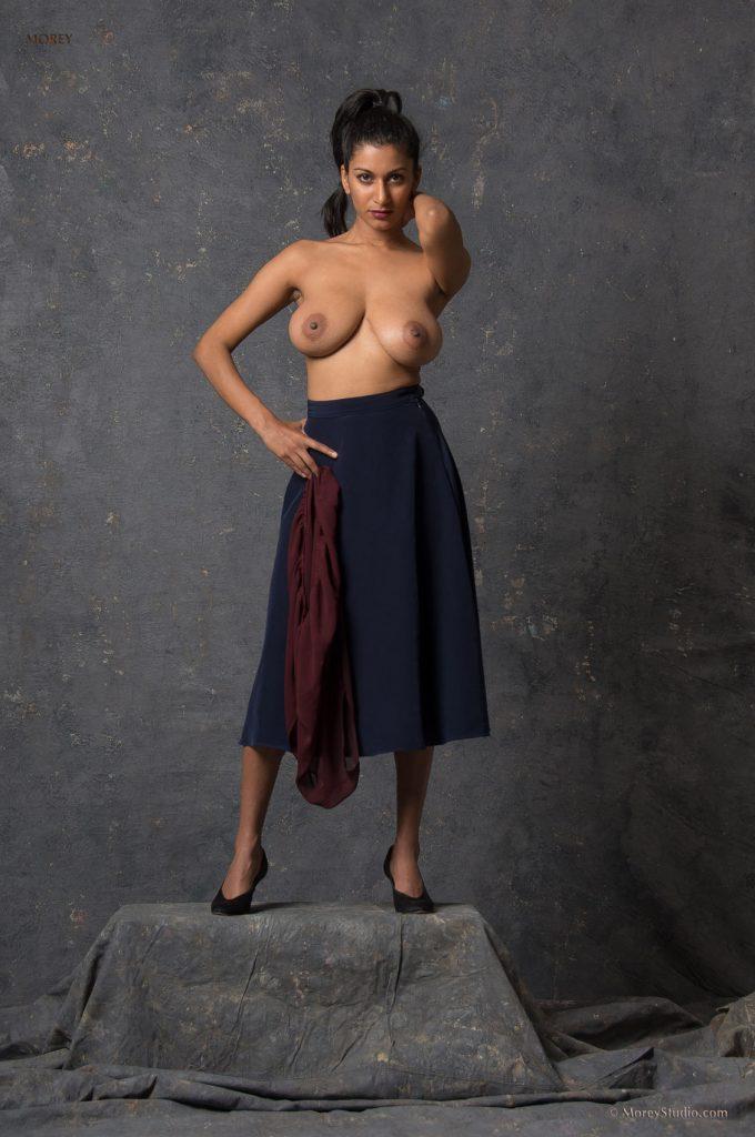 Sabine Erotic Nude Posing for Morey Studio