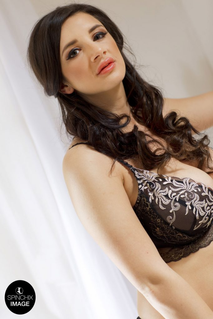 Cara Ruby Black Lace Lingerie for Spinchix