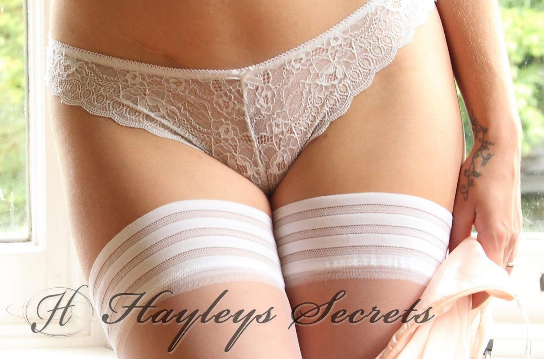 Hayley Marie White Holdups for Hayleys Secrets