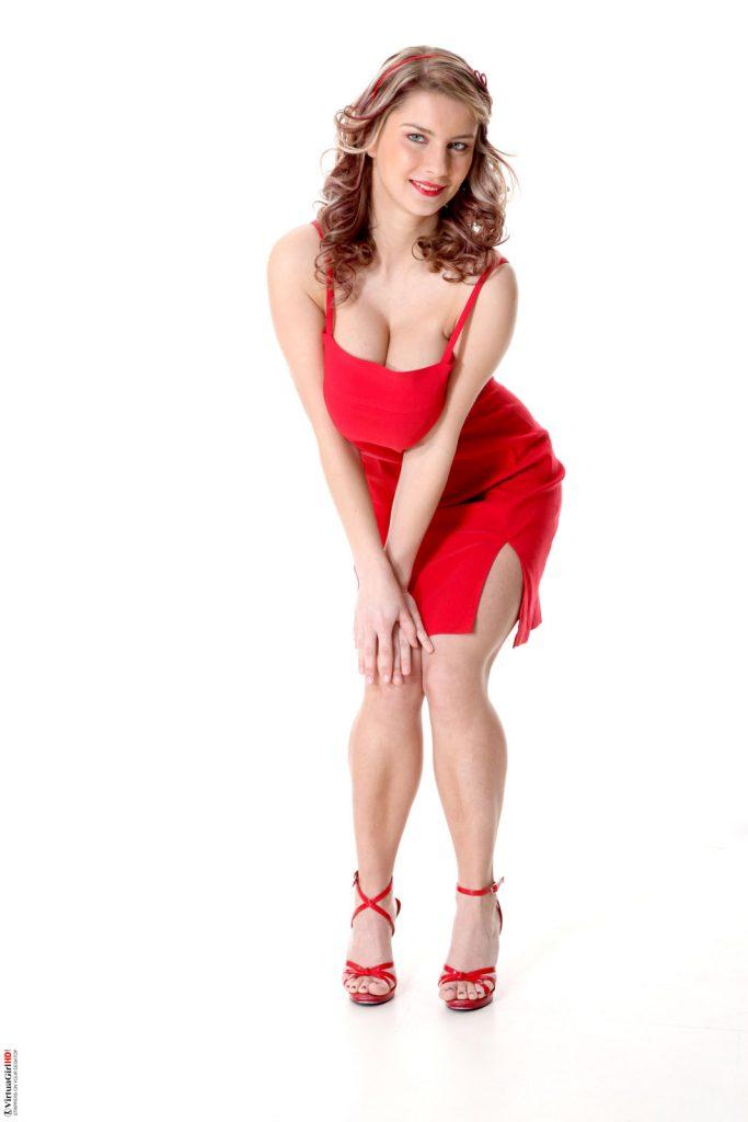 Kathy Kozy Ravishing In Red IStripper