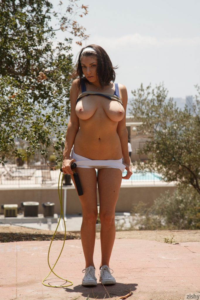 Darcie Dolce The Busty Jogger for Zishy