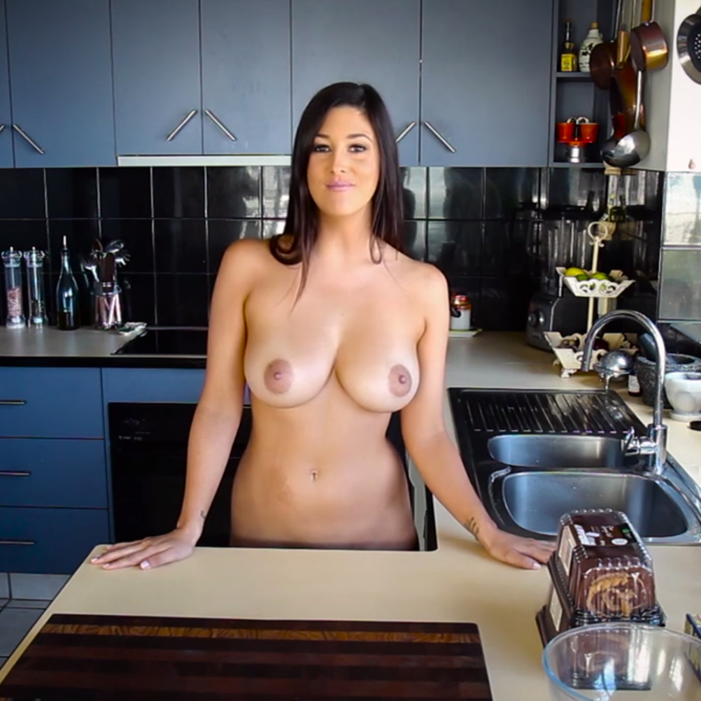 Basinger women cooking in nude couple