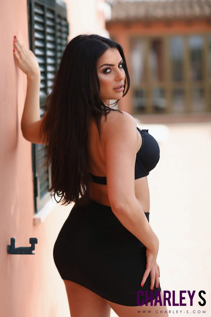 Charley Springer Sexy Black Bikini 3