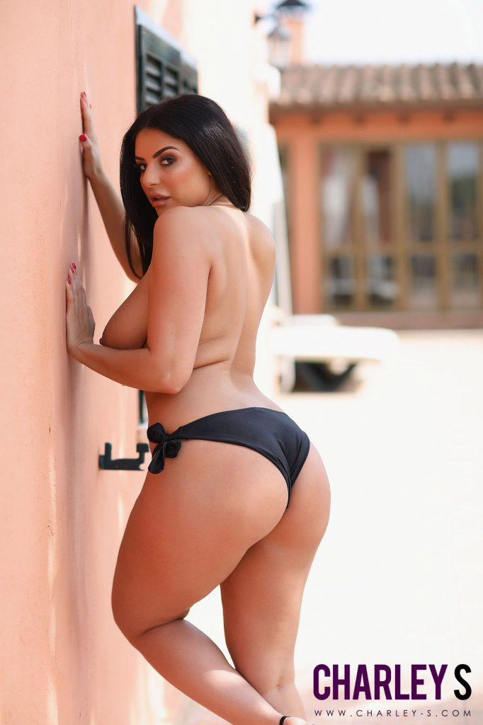 Charley Springer Sexy Black Bikini 8