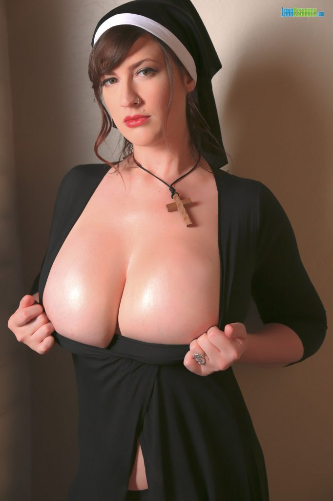 Lana Kendrick Busty Nun Halloween