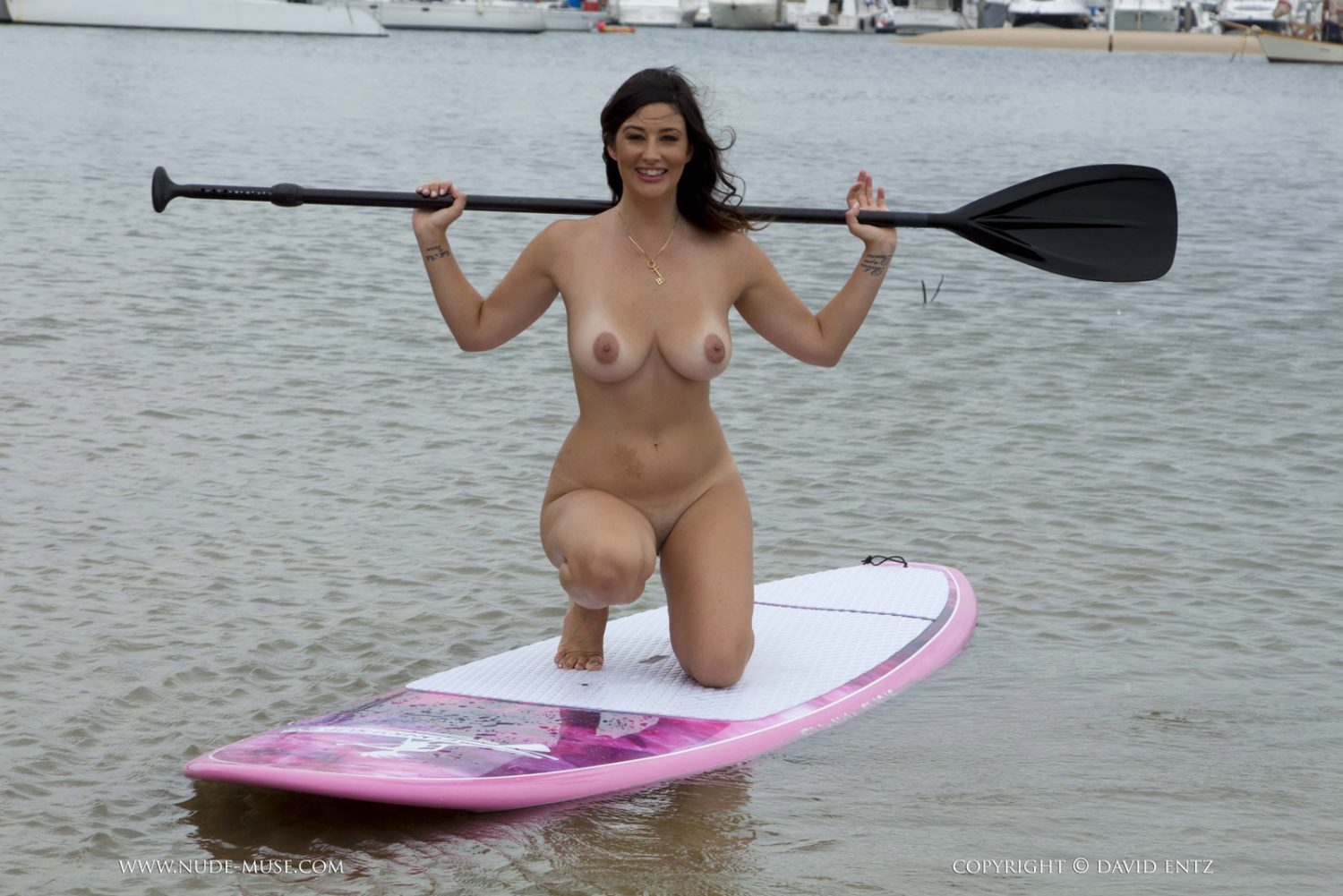 Scarlett Morgan Paddle Boarding Nude Muse