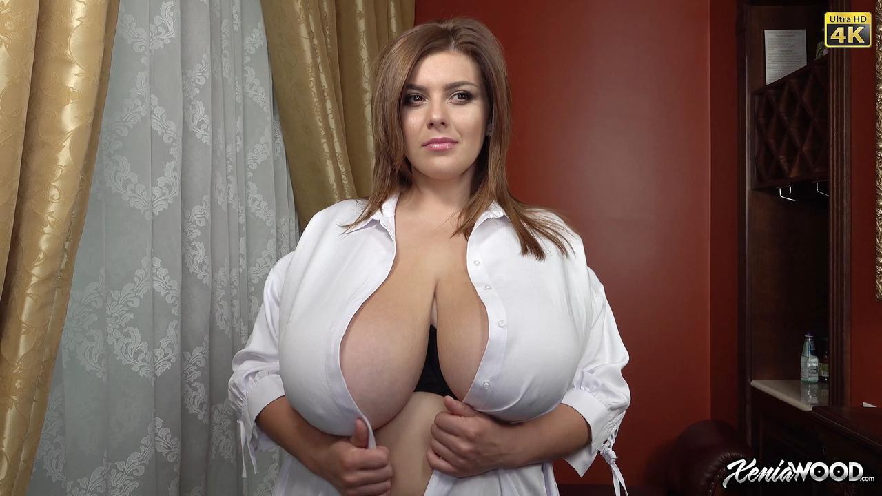 Big boobs white lingerie