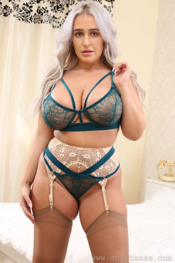 Paris Jade Silky Dress Curves Only Tease