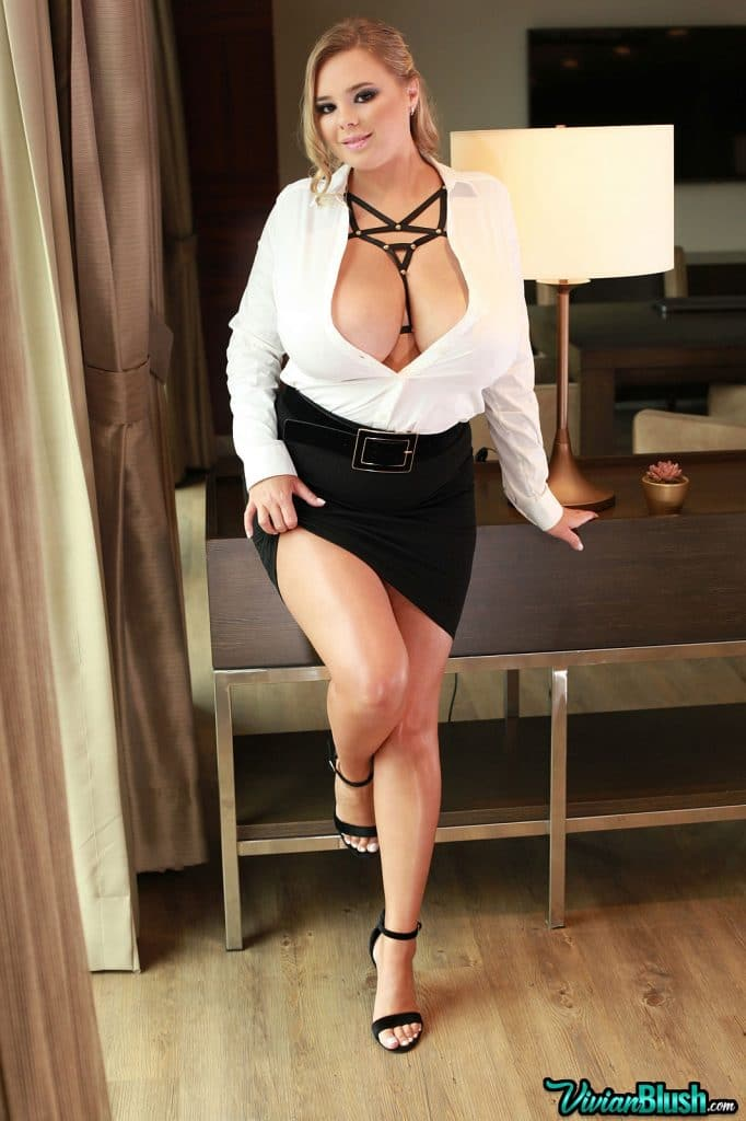Vivian Blush First Topless Ever Video