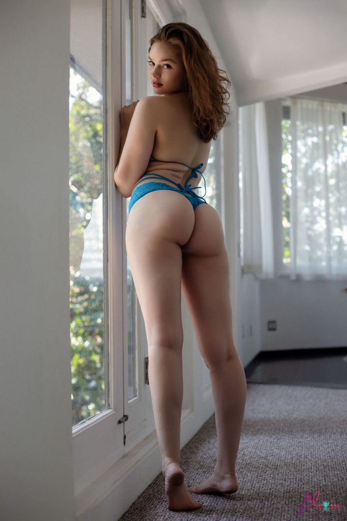 Mary Moody Blue Lingerie Nudes
