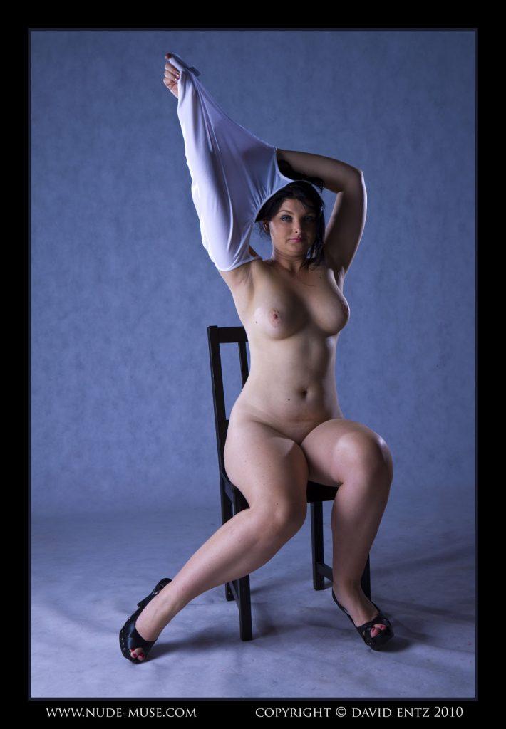 Mandie Shirt Posing Nude Muse