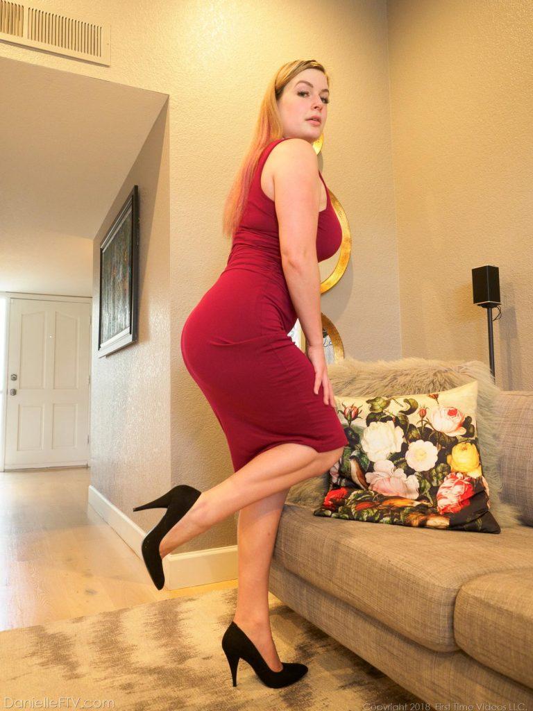 Danielle FTV Red Dress Flexibility