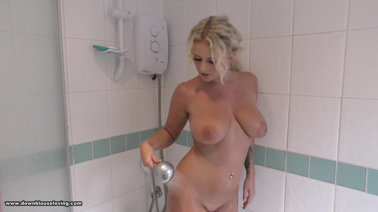 Lycia Sharyl Shower Video Downblouse Loving