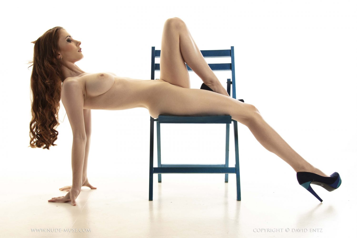 Penni Blue Chair Nude Muse