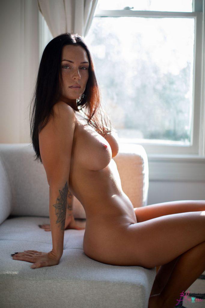 Kayla Lauren White Sheets Babe